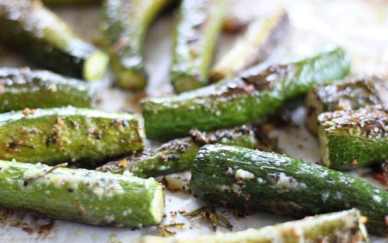 Rosemary Parmesan Roasted Baby Zucchini