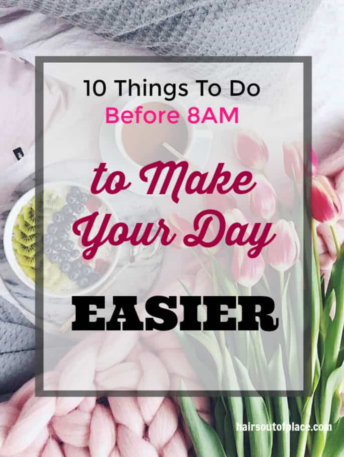 morning routine checklist / mom hacks / morning routine for moms