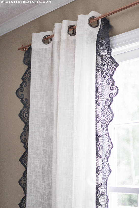 DIY Lace Boho Curtains