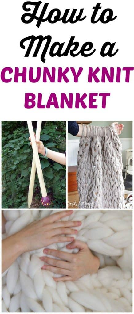 How To Make A Chunky Knit Blanket In Under One Hour