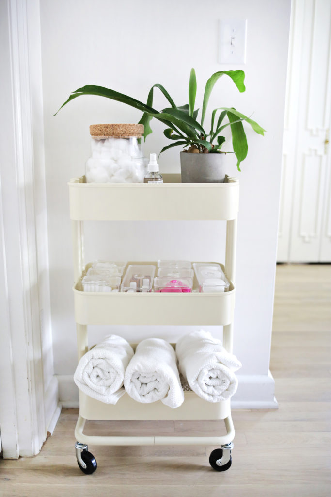 bathroom storage rolling cart