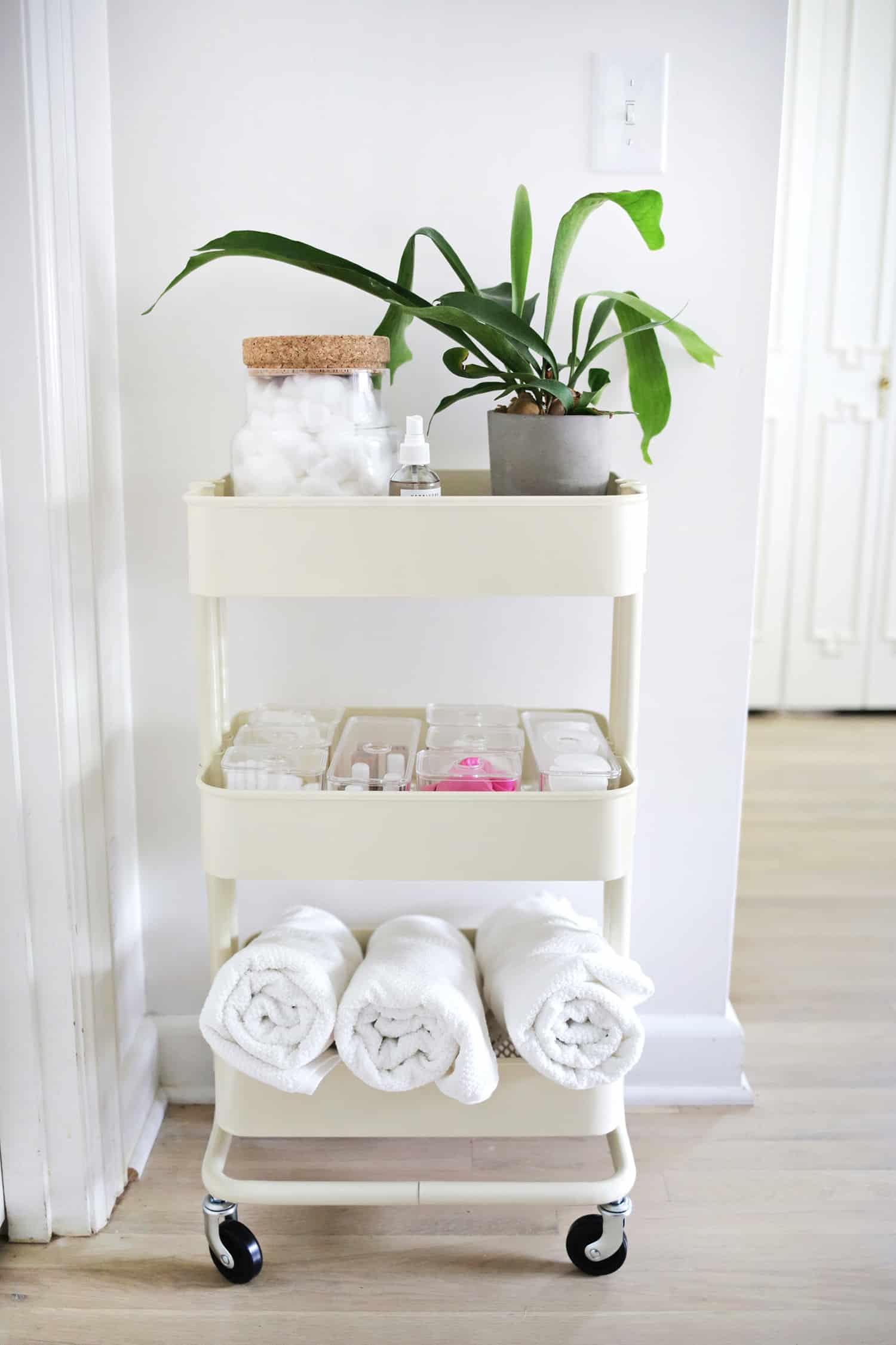 small-bathroom-ideas-ikea-storage-cart