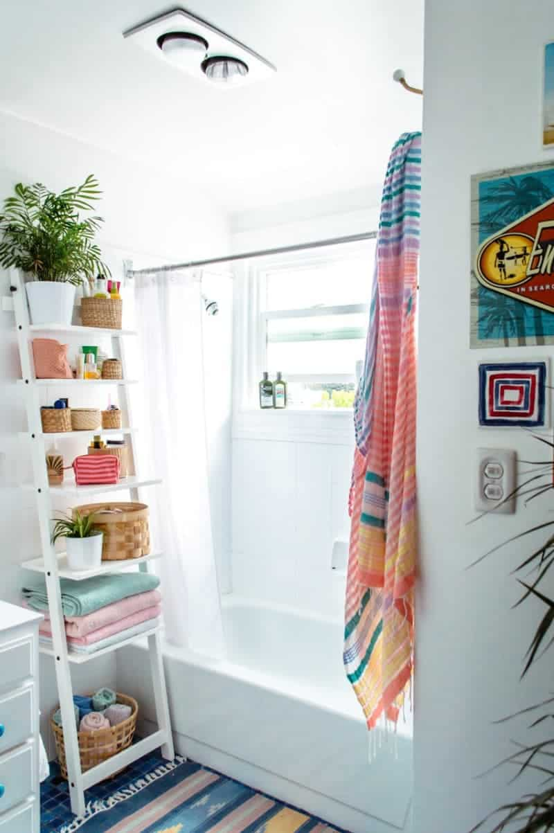 ladder for small bathroom