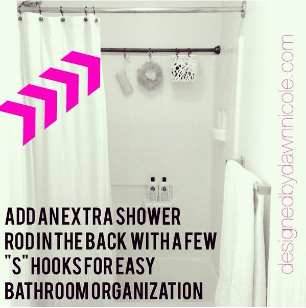 bathroom organization bathtub hacks