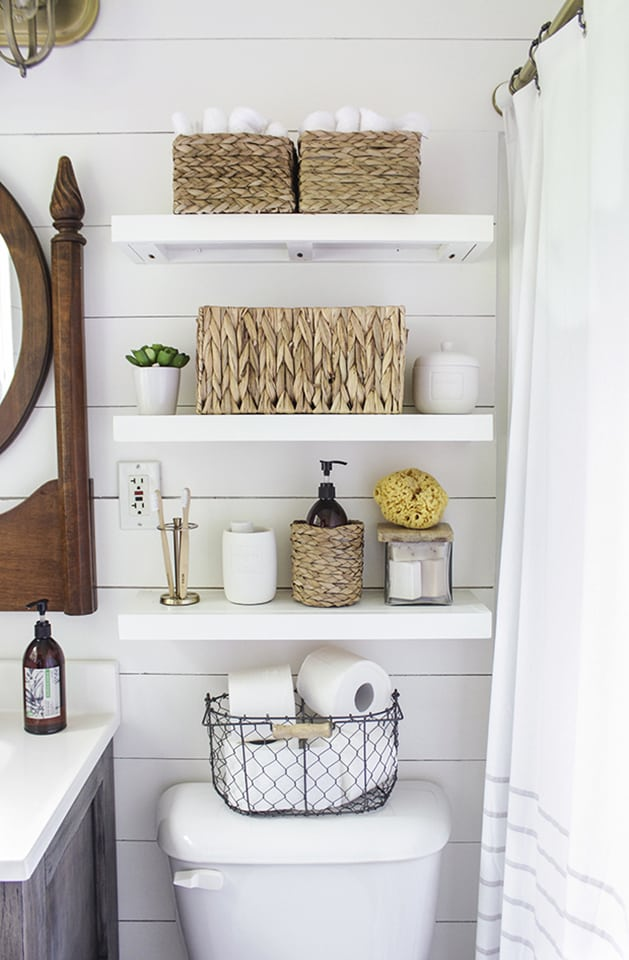 farmhouse bathroom shelf ideas