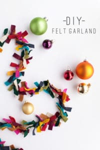 felt Christmas garland pattern
