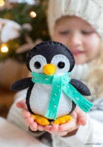 felt penguin stuffed animal pattern