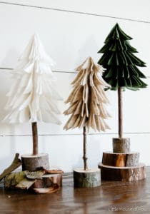 rustic felt Christmas tree pattern