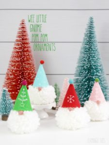 holiday gnomes felt ornament pattern