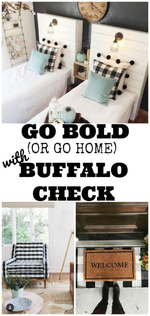 buffalo check farmhouse decor ideas