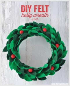 felt holly wreath pattern