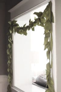 felt leaf garland pattern