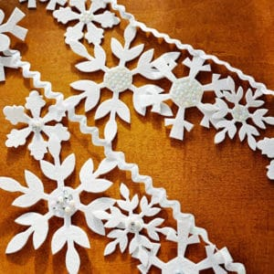 felt snowflake banner pattern