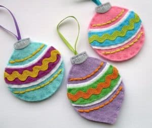 felt vintage christmas ornaments pattern