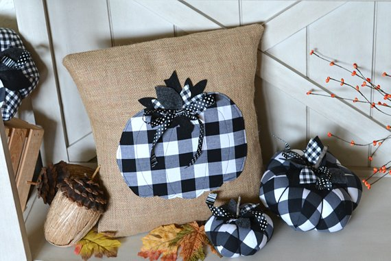 buffalo check fall pillows
