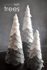 Scandinavian felt Christmas tree pattern