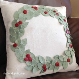 pottery barn christmas pillow pattern knockoff