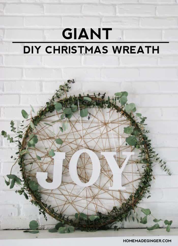 diy giant christmas wreath