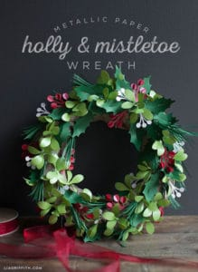 paper crafts Christmas wreath