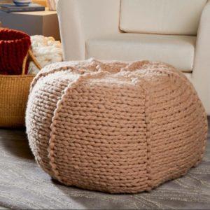 Diy Arm Knit Pouf 9 Knitted Crochet Pouf Floor Cushion