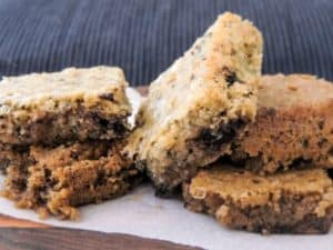 low carb cocoa butter blondies