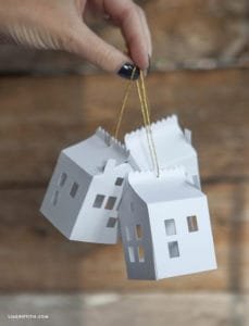 christmas tree paper house ornaments