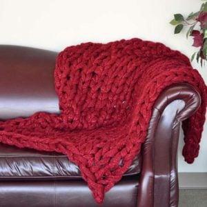 arm knitting blanket