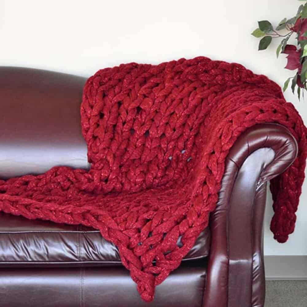 Premier Yarns Couture Jazz chunky knit blanket pattern ...