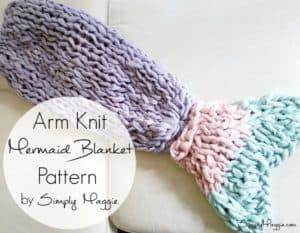 chunky knit mermaid blanket