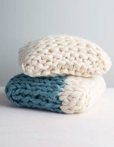 arm knit pillow pattern