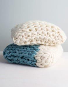arm knit pillow pattern