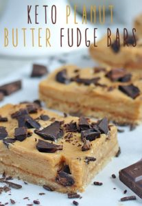 low carb peanut butter fudge bars