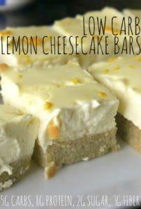 keto lemon cheesecake bars