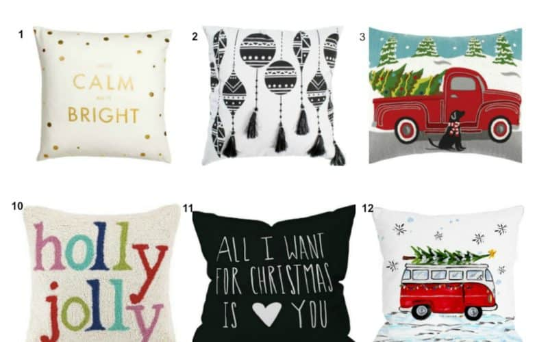 21 of the Hottest Christmas Pillows by Your Favorite Shops