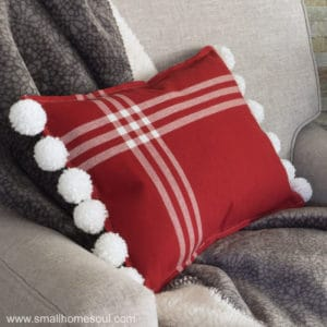 easy diy pom pom pillow