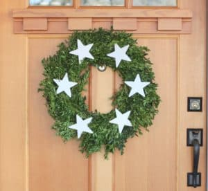 DIY boxwood christmas wreath