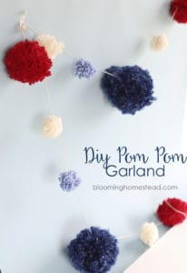 4th of july pom pom garland