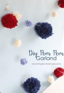 4th of july pom pom garland
