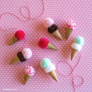 ice cream pom pom garland