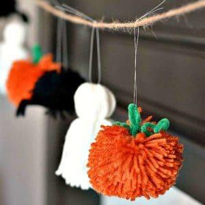 halloween pom pom garland
