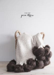 diy faux fur pom pom blanket