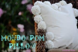 pottery barn pom pom pillow