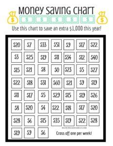 money savings challenge game