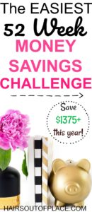 2018 money savings challenge