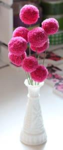 diy pom pom bouquet