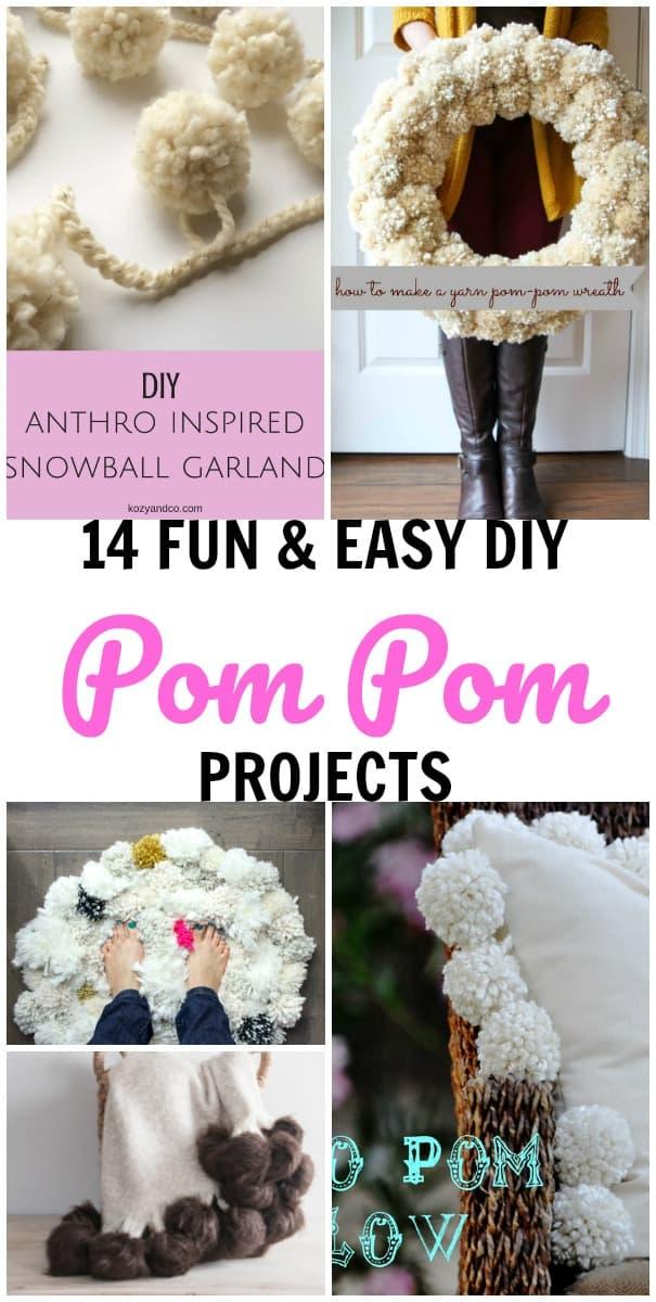 14 easy pom pom crafs to make