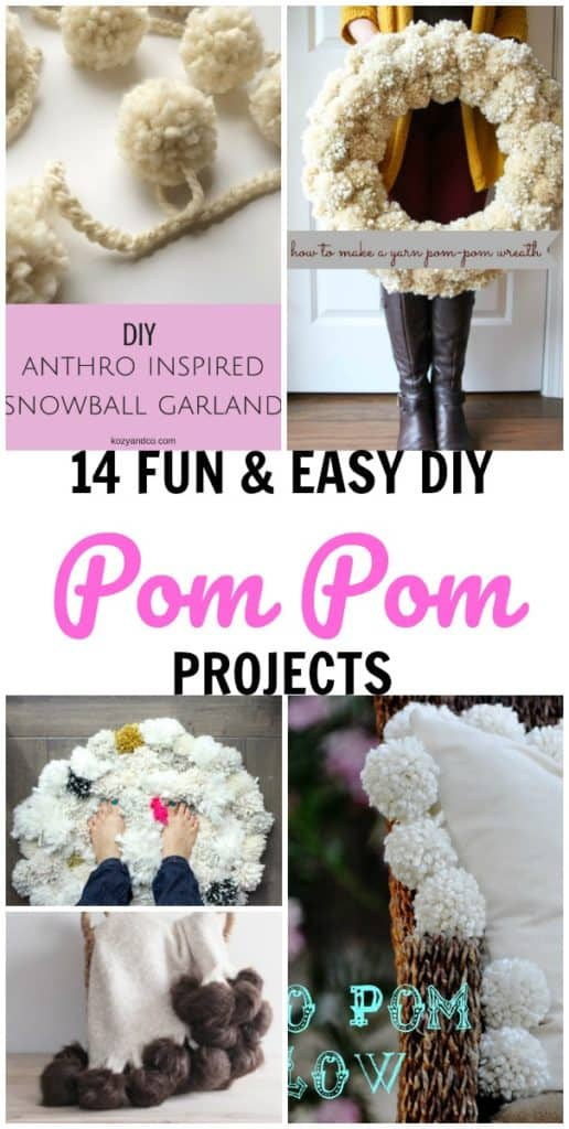 diy pom pom craft projects