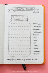 bullet journal money tracker