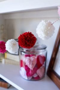 valentines pom pom crafts