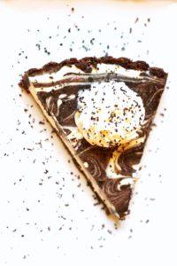keto chocolate cheesecake swirl